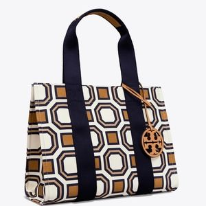 NWT! TORY BURCH Printed Tory Octagon Tory Tote